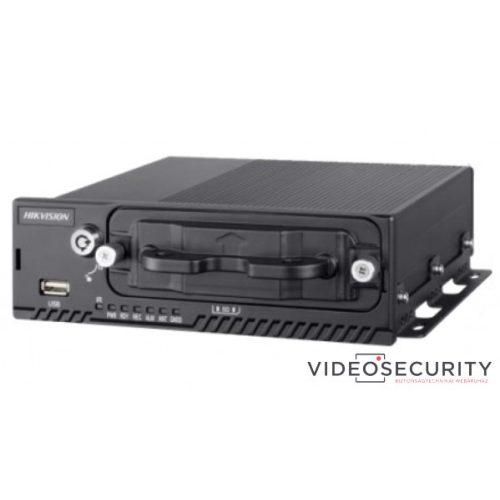 Hikvision DS-MP5604 4+4 csatornás mobil hibrid DVR 1080P@12fps 720@25fps GPS max. 2TB merevlemez
