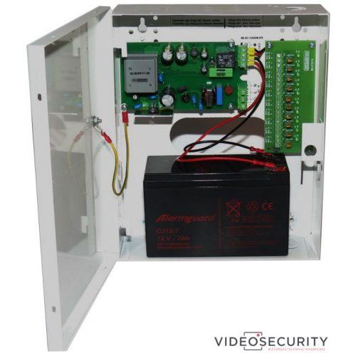 Makrai ME.80-14/6ASW-KTEI Dobozolt intelligens szünetmentesíthető CCTV tápegység 230VAC/12VDC-13,8VDC 6A akkumulátor töltés