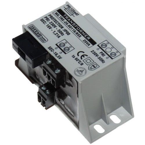 Transzformátor; 230 VAC/24 VAC 800 mA; 20 VA