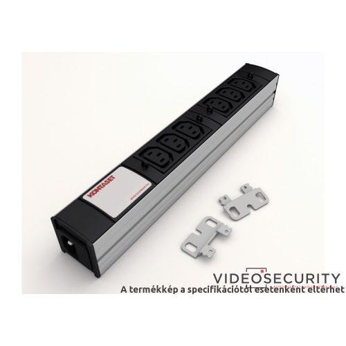 """Kontaset RACK/MISC/K/006 5-ös aljzat túlfeszültségvédelemmel (villámvédelem) + zavarszűrővel 19""""-os"""