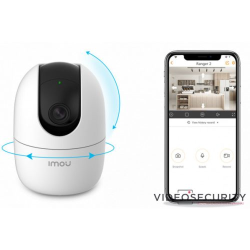 WiFi mozgatható IP kamera, beépített hangszóró és mikrofon - Dahua Imou RANGER 2 - (2MP, 3,6mm, beltéri, H265, IR10m, D&N(ICR), SD, audio, 5VDC)