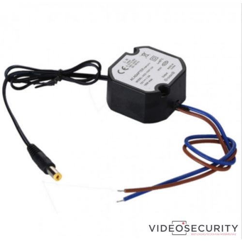 Nestron SD1412v2 Tápegység csatlakozóval kamerákhoz kötődobozba; 230 VAC/12 VDC; 1 A; IP67
