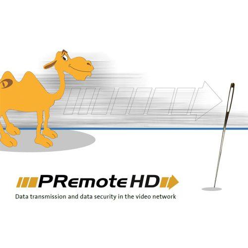 Premote HD opció SMAVIA rögzítőhöz; SD/HD képfolyam és hang kis sávszélességű átviteléhez
