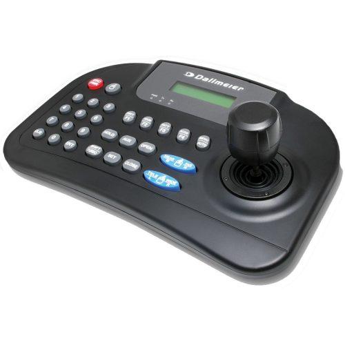 Joystick kezelőegység; 3D; soros vagy USB; LCD kijelző; DDCP, PelcoD és PelcoP protokollok