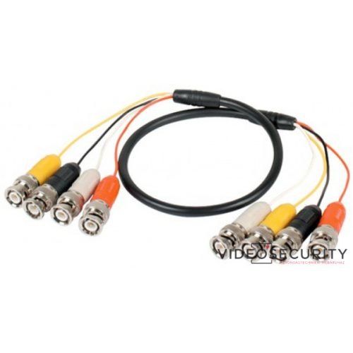 Nestron WC414 4 BNC apa - 4 BNC apa patch kábel; 100 cm hosszú