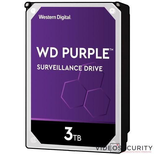 Western Digital WD30PURZ WD Purple; 3 TB biztonságtechnikai merevlemez; 24/7 alkalmazásra; nem RAID kompatibilis